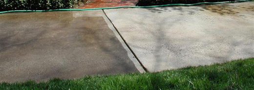 Power washing concrete