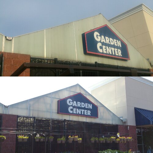 Pressure Washing - Here we cleaned the exterior of the Lowes garden center in Milwaukee Wisconsin.