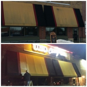 comercial pressure washing awning cleaning