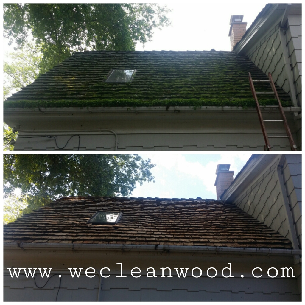 Cedar Roof Moss and Roof Cleaning