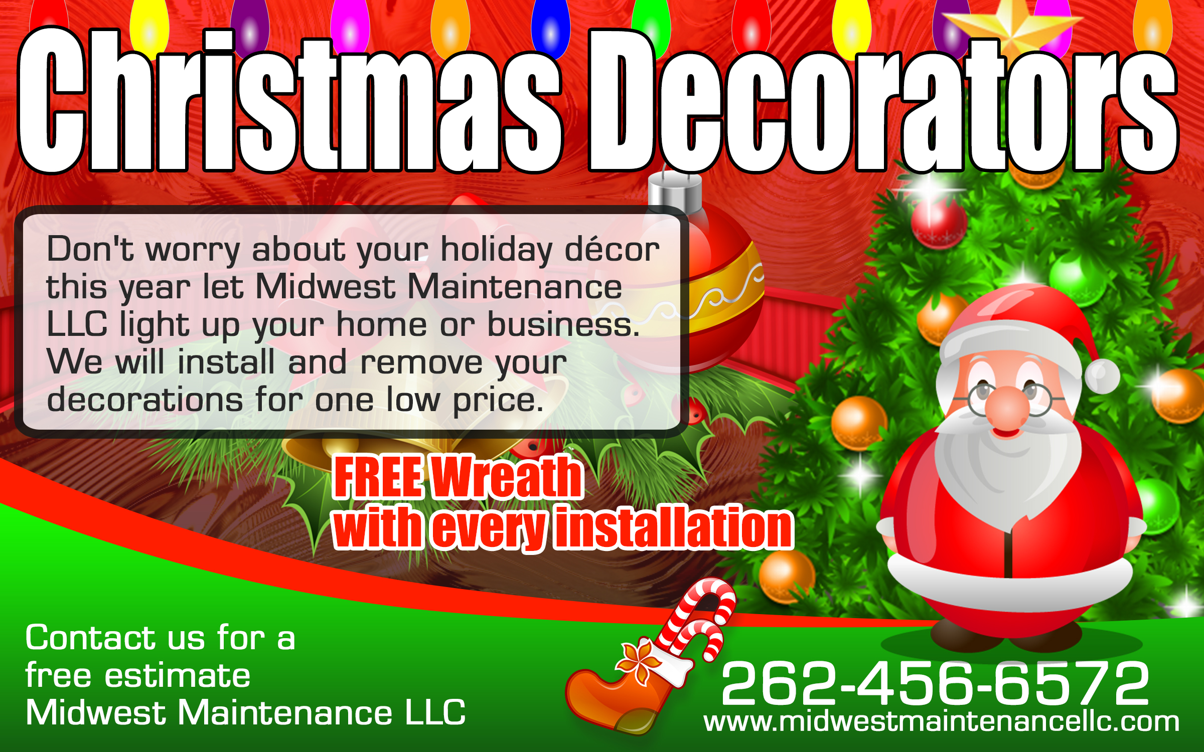 Christmas Decoration Installation and Removal