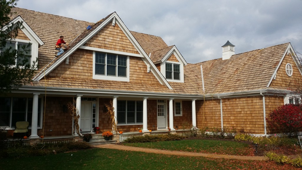 cedar roof and siding cleaning and restoration