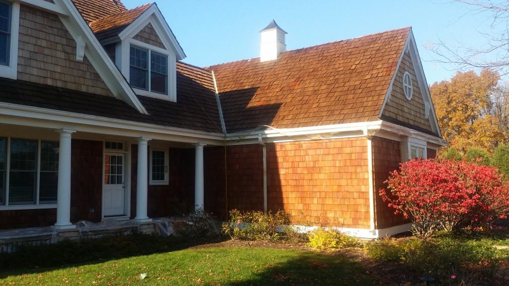 cedar roof staining