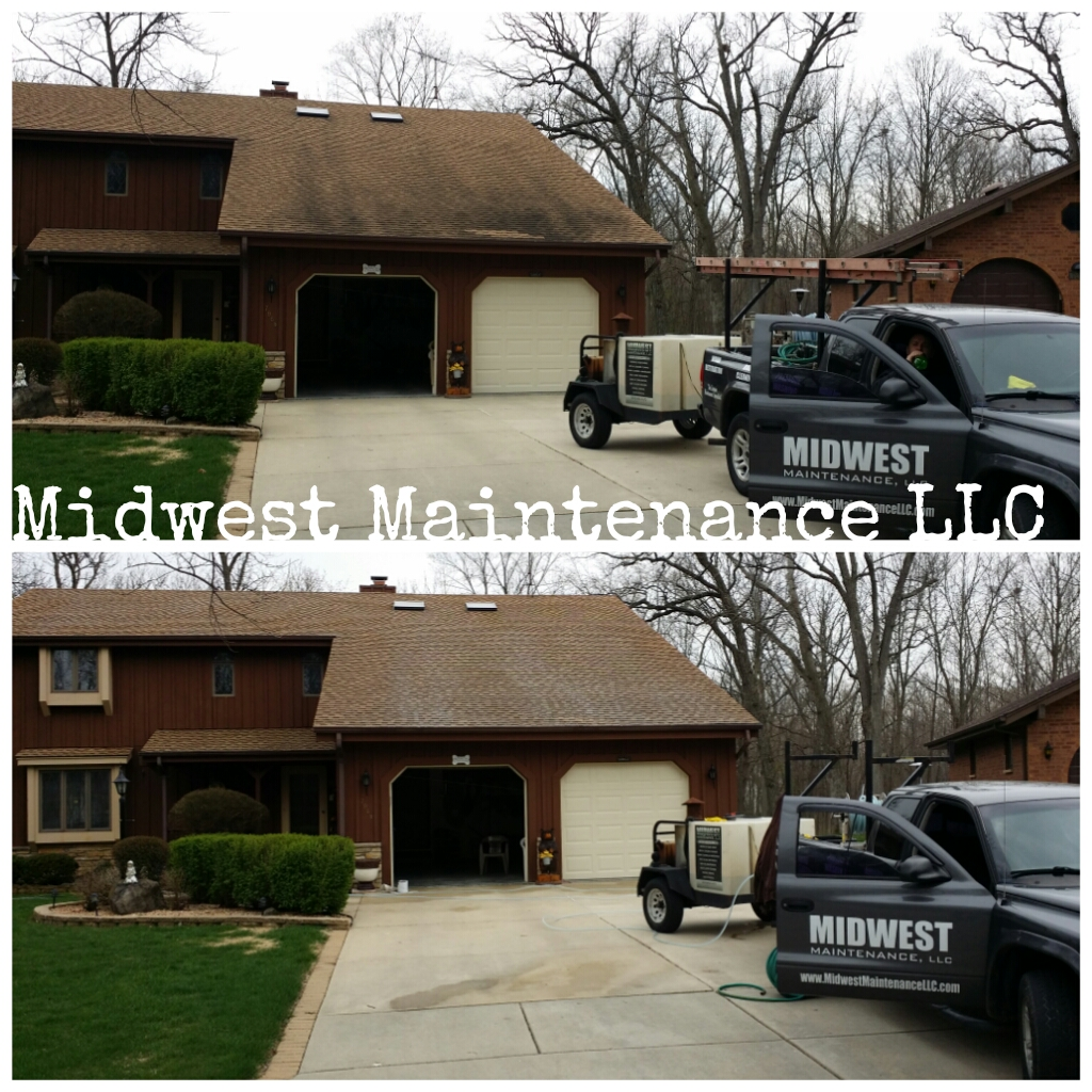 Roof cleaning Kenosha Wisconsin by Midwest Maintenance LLC