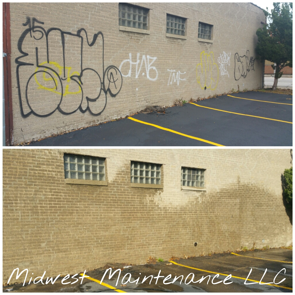 Graffiti Removal Milwaukee Wiconsin - Midwest Maintenace LLC