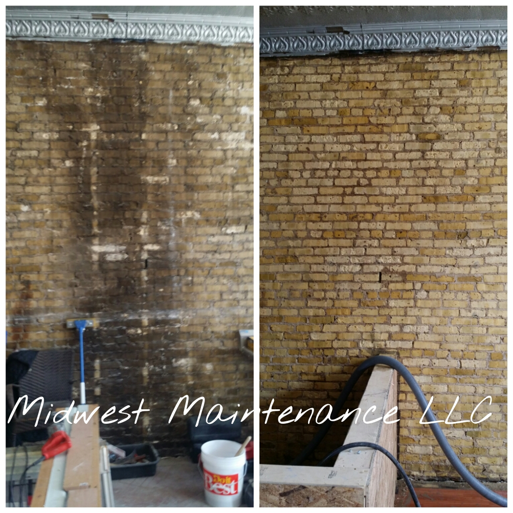 Cream City brick cleaning, Milwaukee Wisconsin