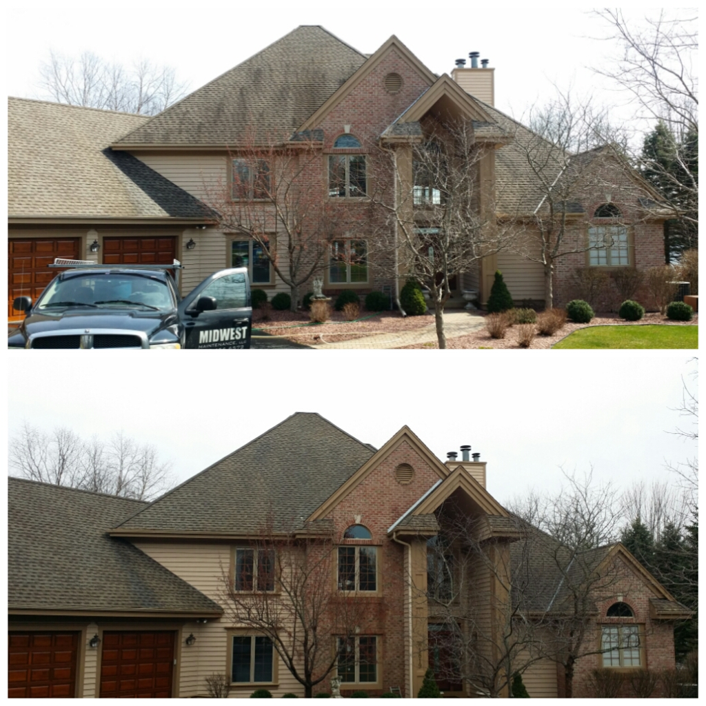 Roof cleaning, Kenosha Wisconsin